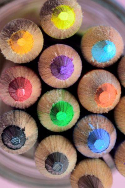 colouring pencil bullet journaling